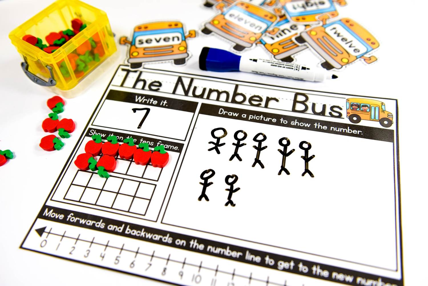 The number bus morning work activity