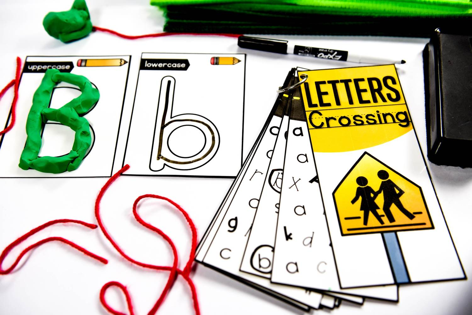 Letters crossing morning work activity