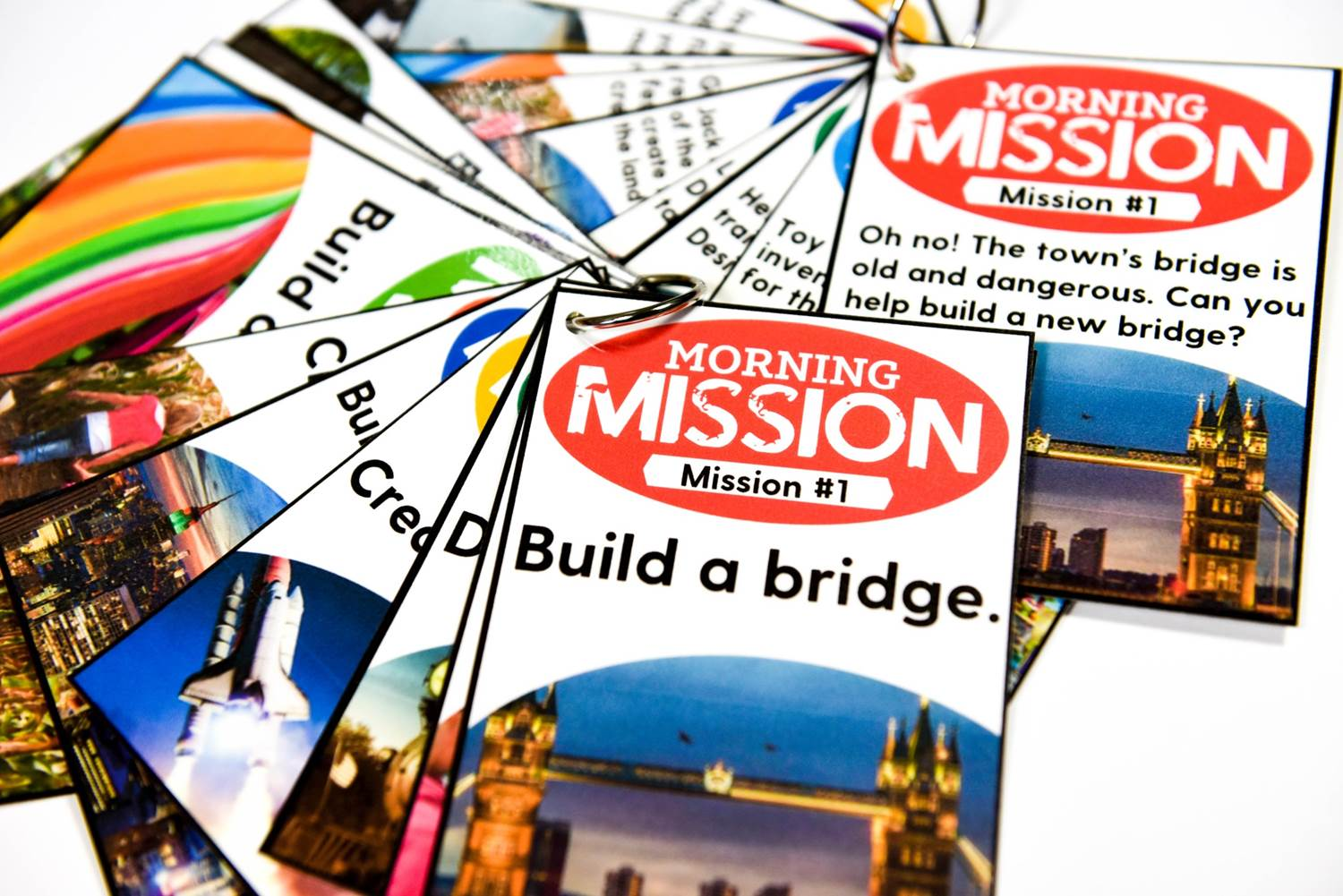 Morning mission task cards