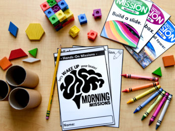 Hands-on morning tubs sheets and manipulatives
