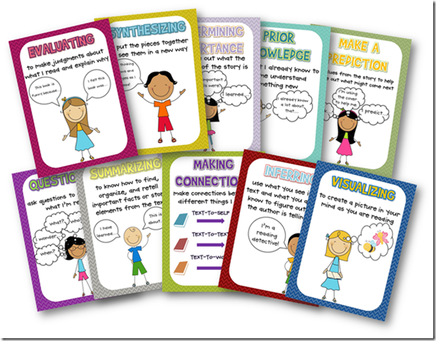 Comprehension Strategy Posters (free!) - Lyndsey Kuster