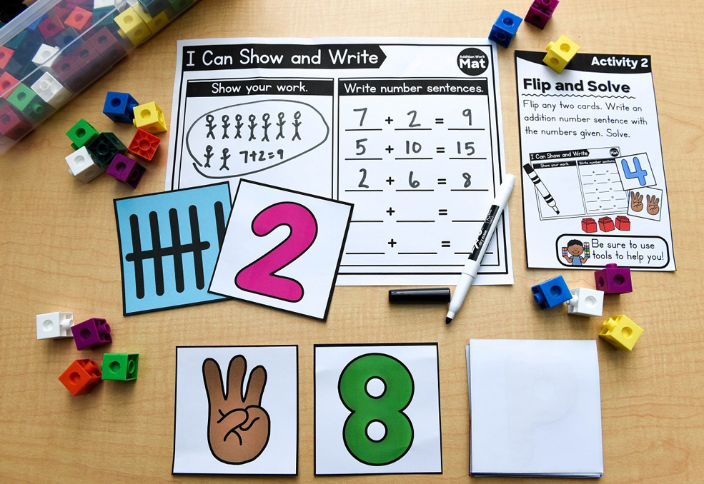 Exposure to math concepts through hands-on activities