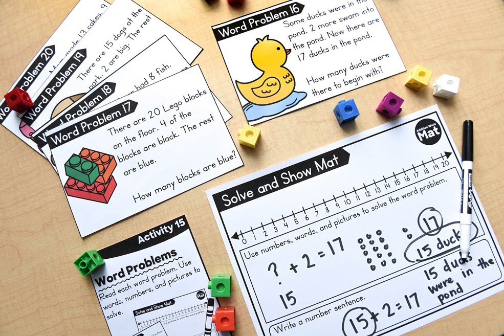Hands-on math stations