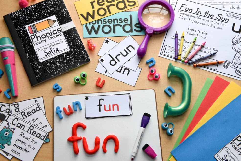 Interactive activities for phonics mastery