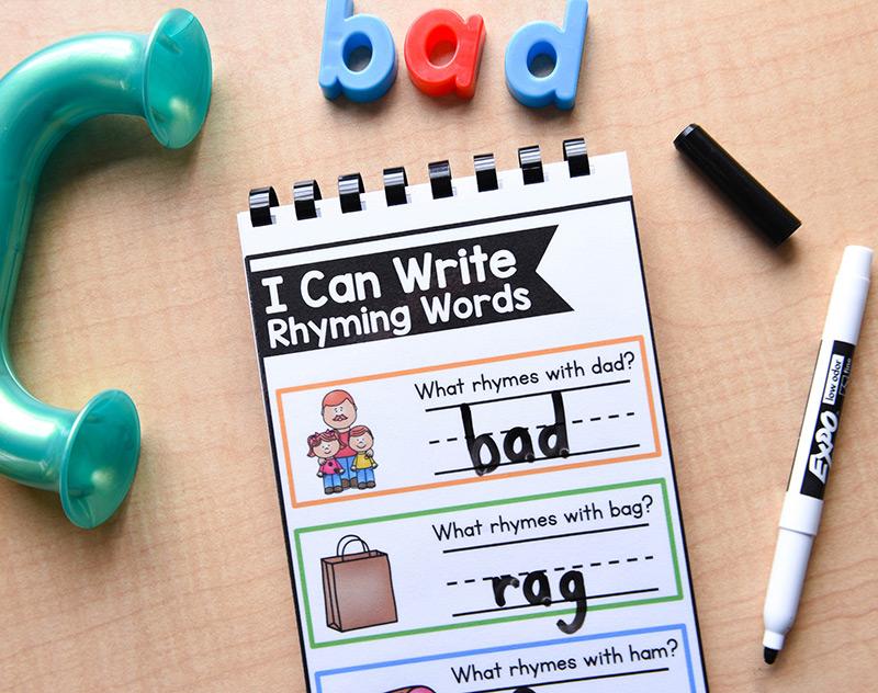 Write rhyming words