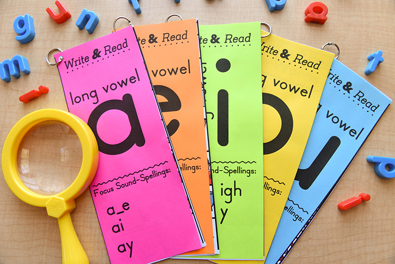Phonics books for word work activities