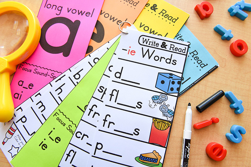 Write the missing sound-spelling and read the word