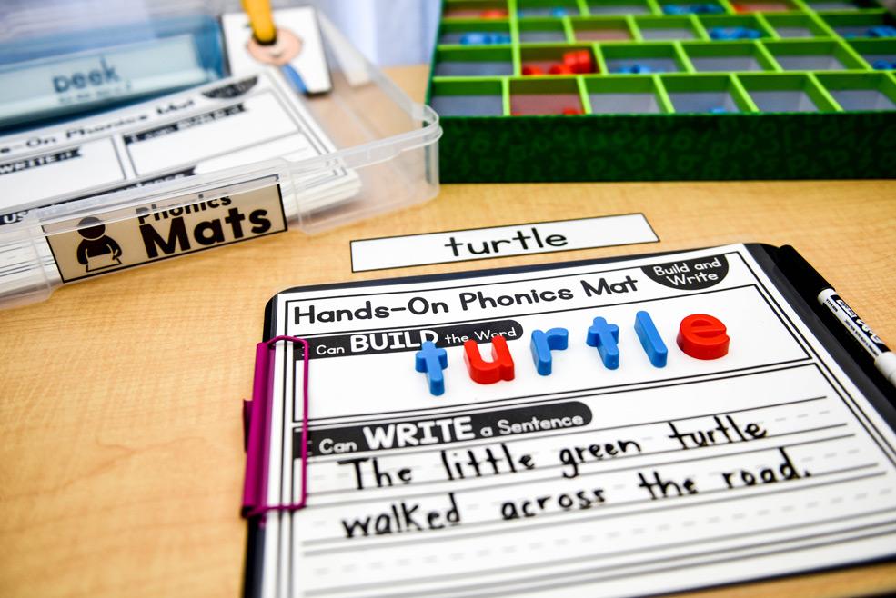 Hands-on phonics mat