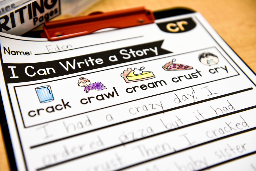Phonics writing pages