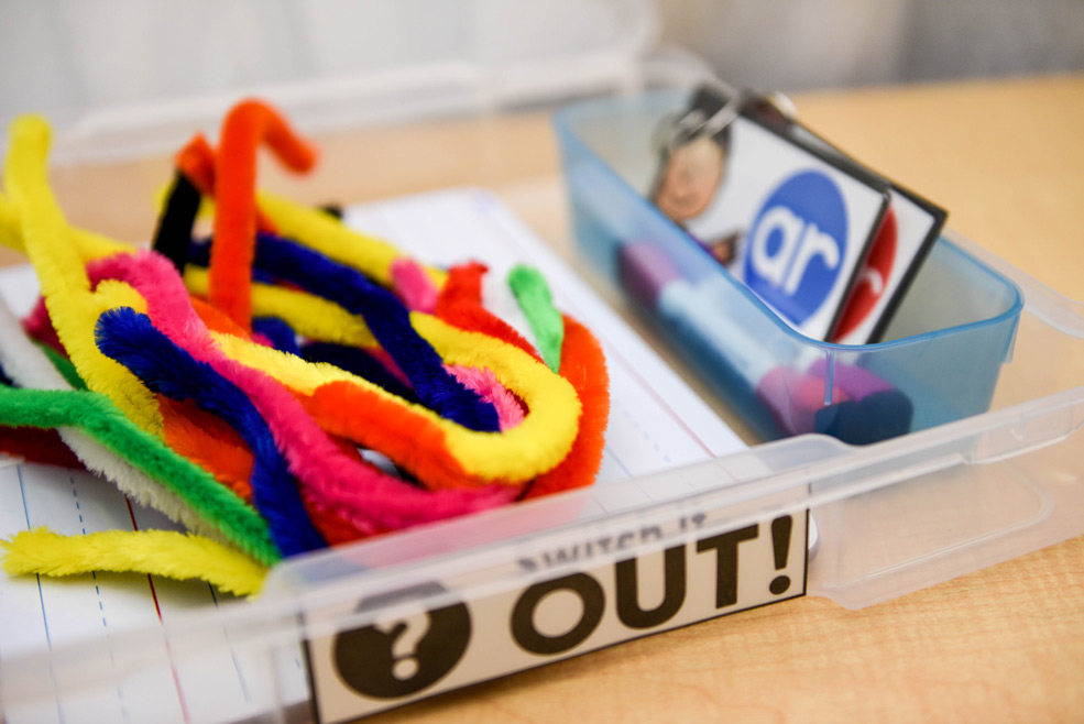 Making words with pipe cleaners
