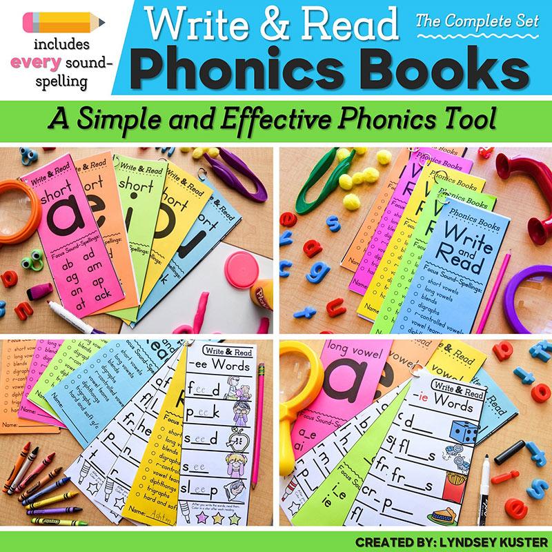Write & Read phonics books resource