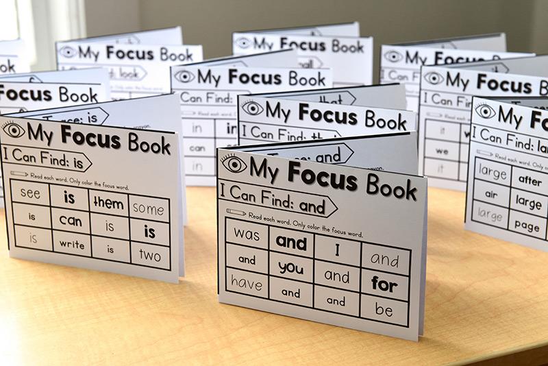 Fold & focus sight word books