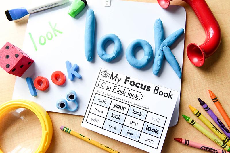 Hands-on/sensory sight word activities