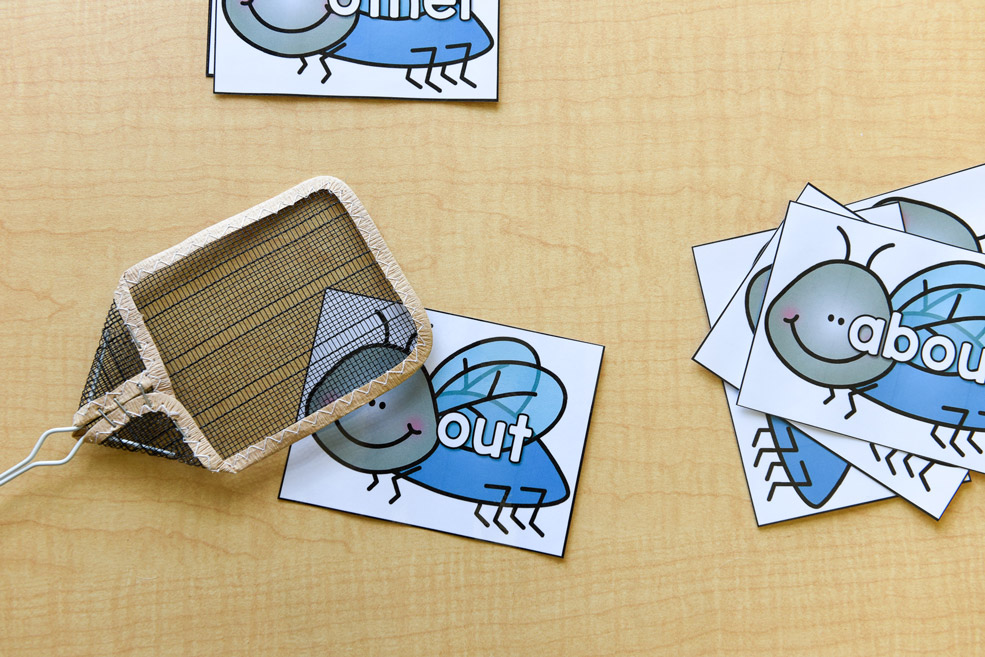 Learning materials: Sight word swat it