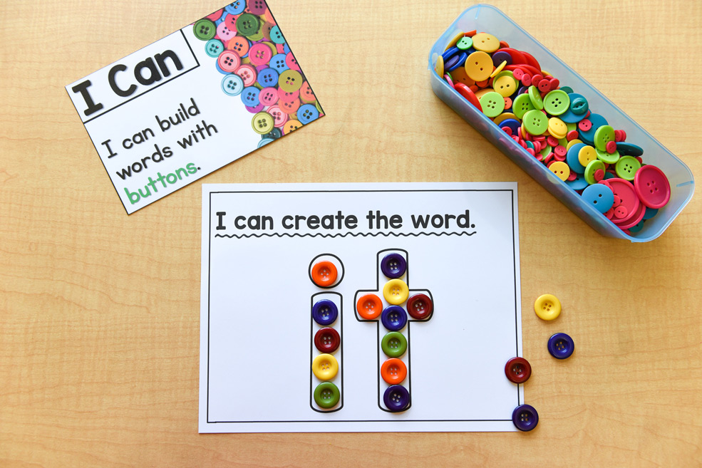 Learning materials: Build words with buttons