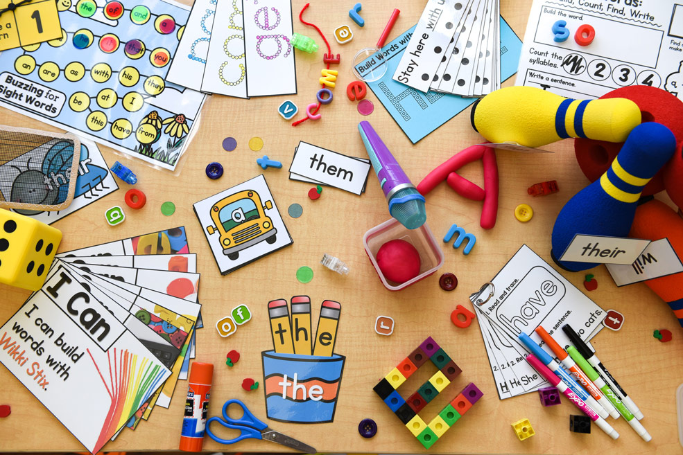 Hands-on sight words learning materials