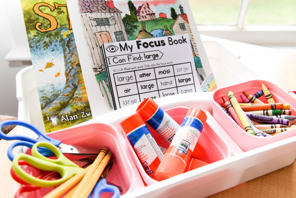 How to add the phonics mini books to your word work stations