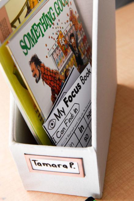 Organizing your phonics mini books