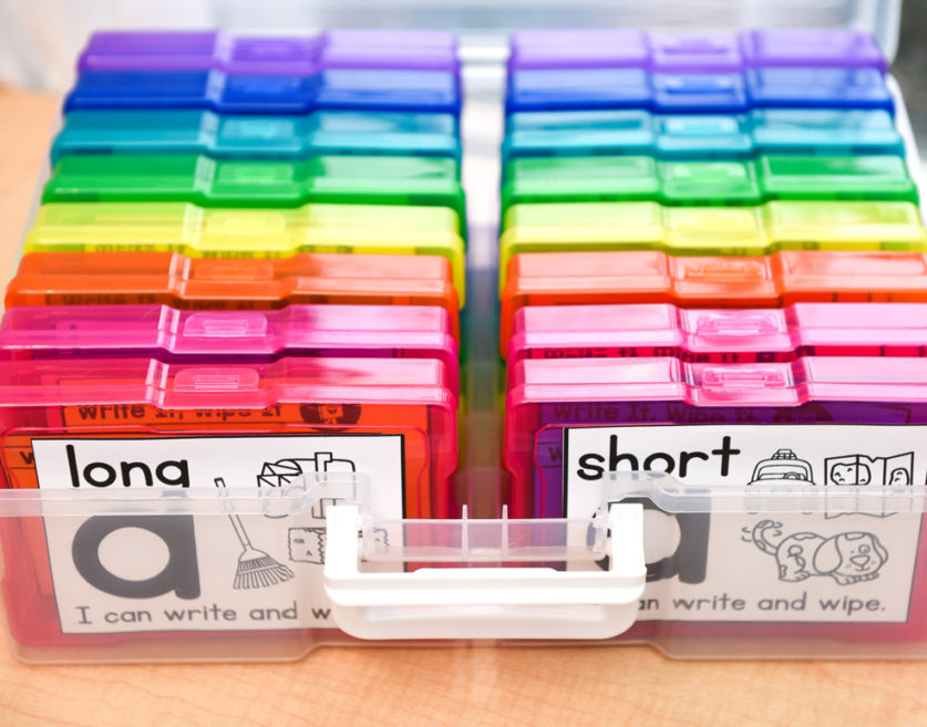 Organizing your phonics cards