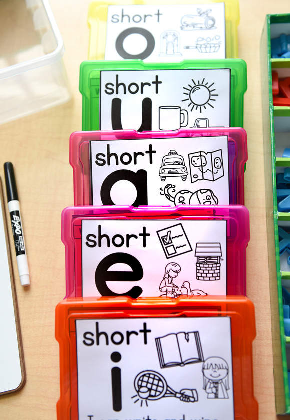 Phonics cards for word work