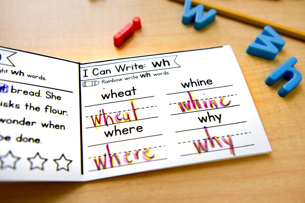 Rainbow write sound spelling words