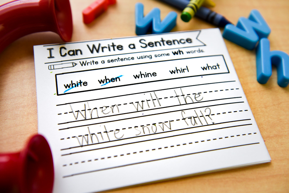 Write a sentence using the sound spelling