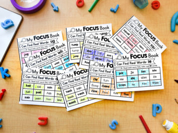 Phonics mini books for word work