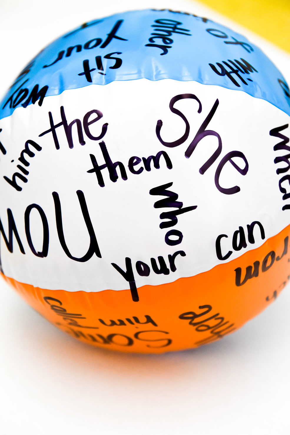 Sight word ball