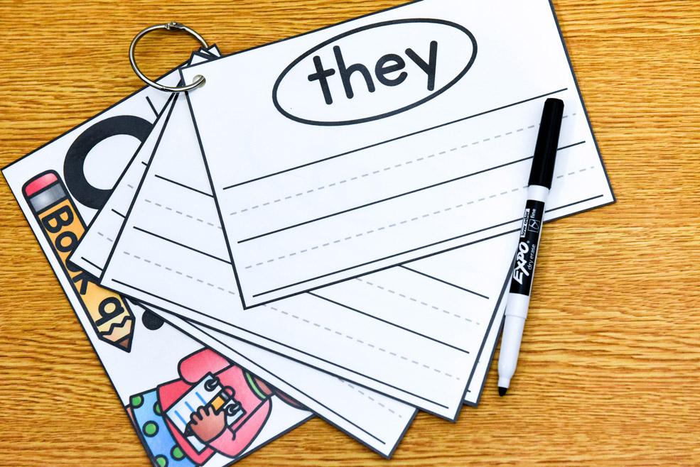 Write-on sentences