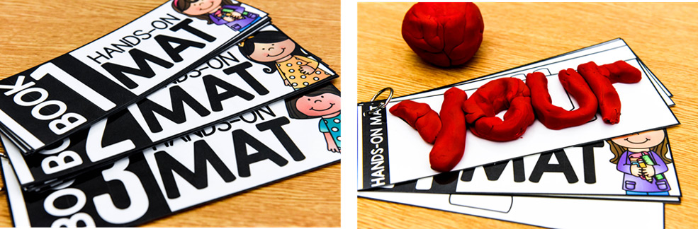 Sight word make-it mats