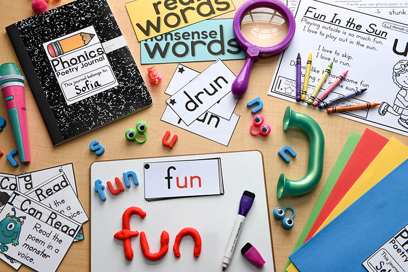 Different hands-on activities for phonics fluency