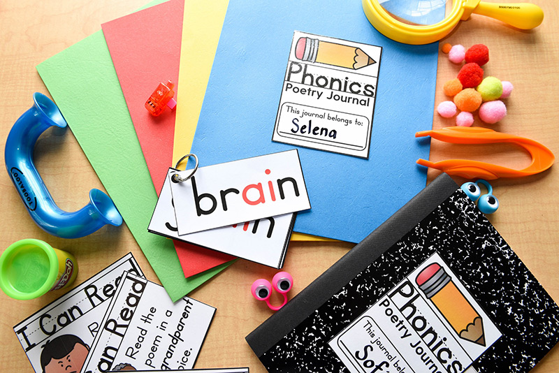 Many hands-on activities for phonics fluency