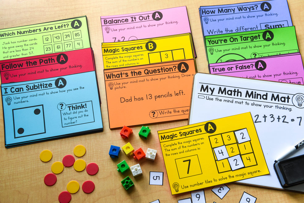 Number talks activities from concrete to abstract