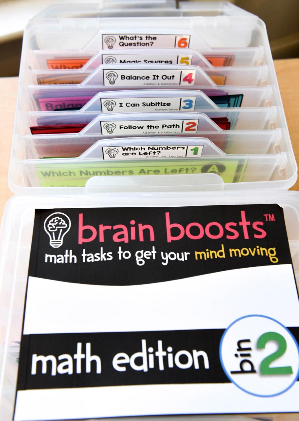 Brain boosts number talks bin