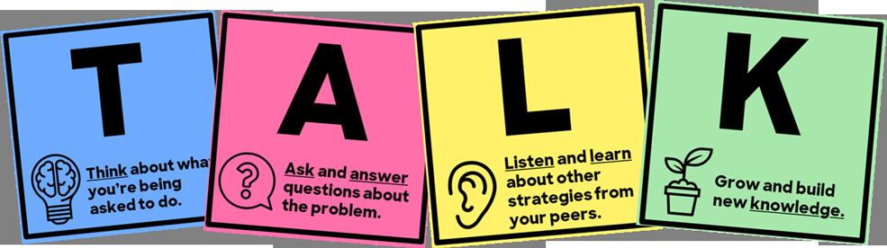TALK acronym to break down number talks