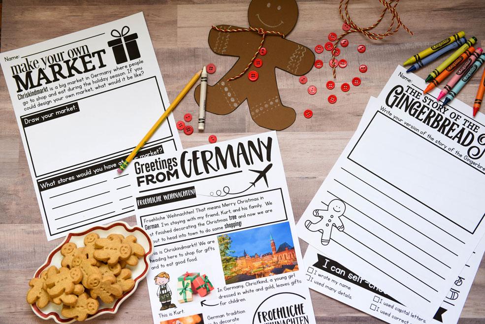 Germany holiday around the world activity