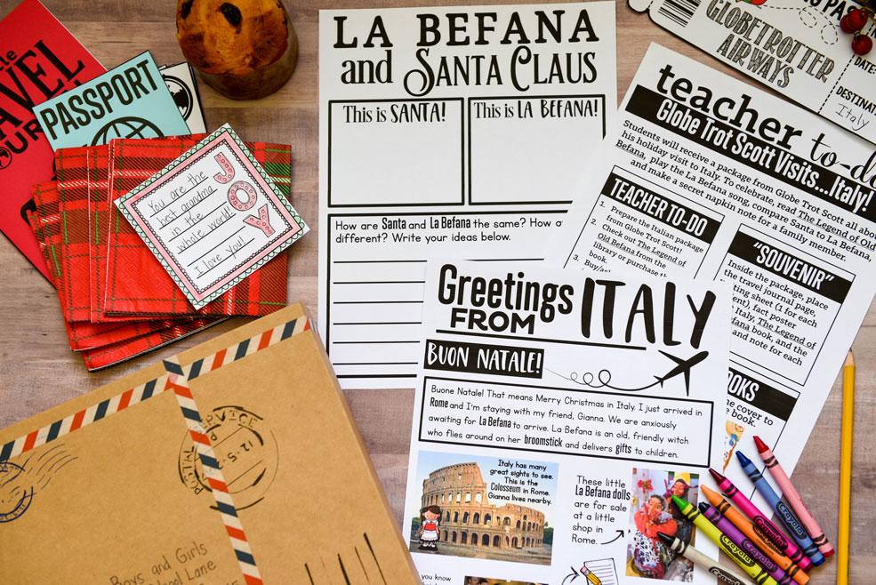 Italy holiday around the world activity
