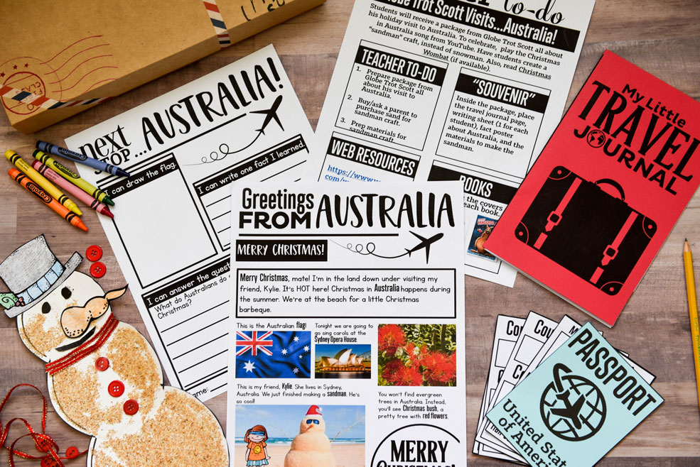 Australia holiday around the world actvity