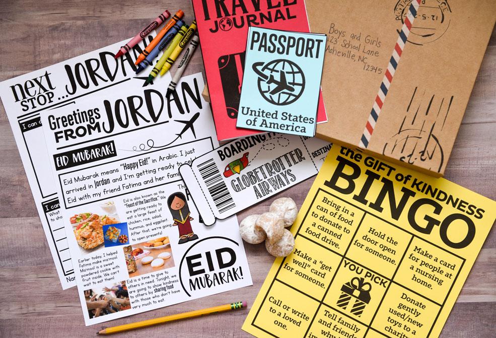 Jordan holiday around the world activity