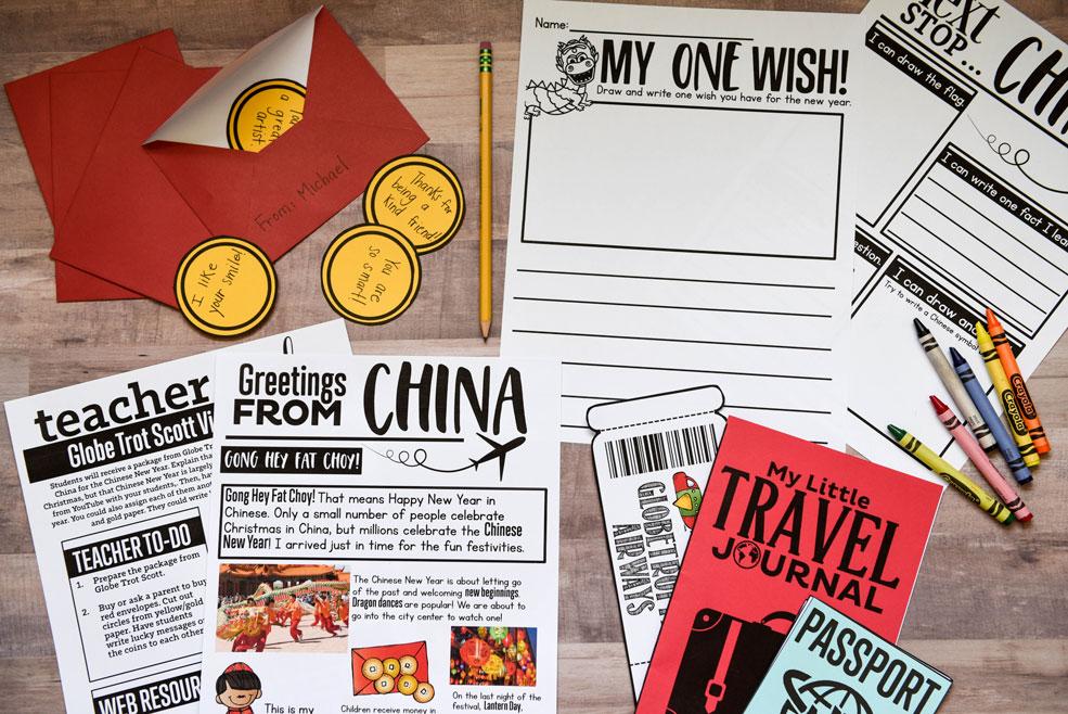 China holiday around the world activity