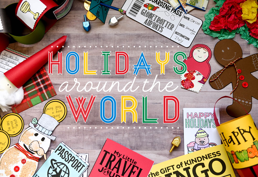 Holidays around the world unit resource for kids