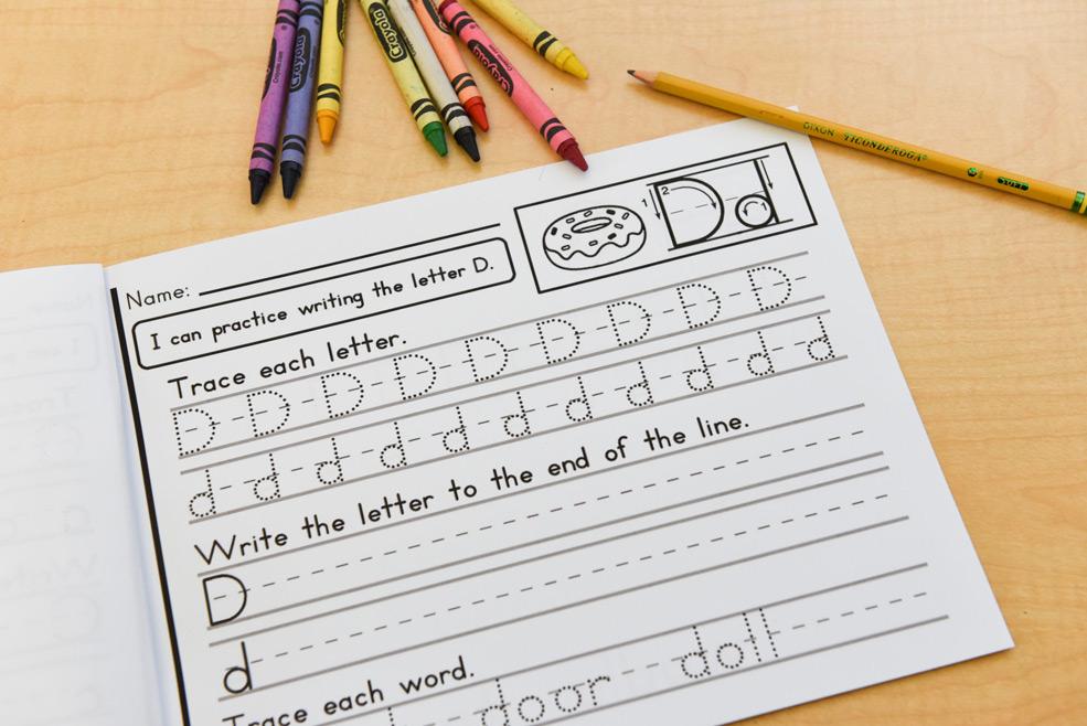 Different handwriting activities