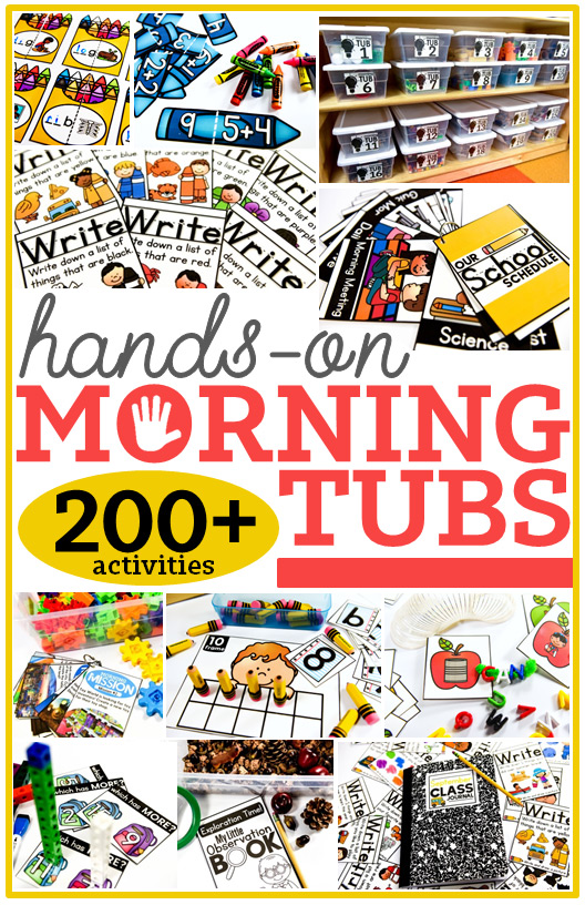 More than 200 hands-on morning tubs activities